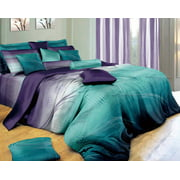 Swanson Beddings Twilight-P 3-Piece Bedding Set: Duvet Cover and Two Pillow Shams