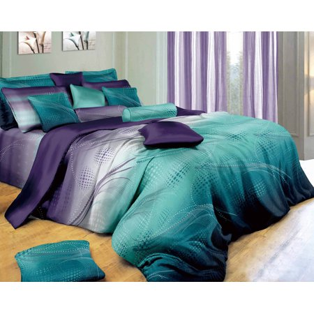 5 Piece Duvet Cover Bedding - Swanson Beddings Twilight-P 3-Piece Bedding Set: Duvet Cover and Two Pillow Shams
