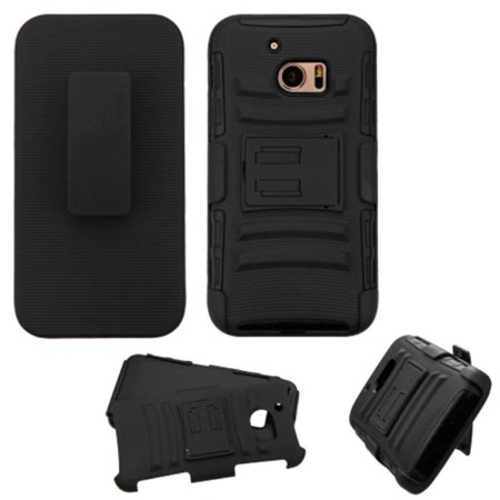 the latest 15e13 10d2a HTC One M10 Phone Case, HTC One M10 Case, by Insten Hard Hybrid Plastic  Silicone Cover Case with Holster For HTC One M10 case cover | Walmart Canada