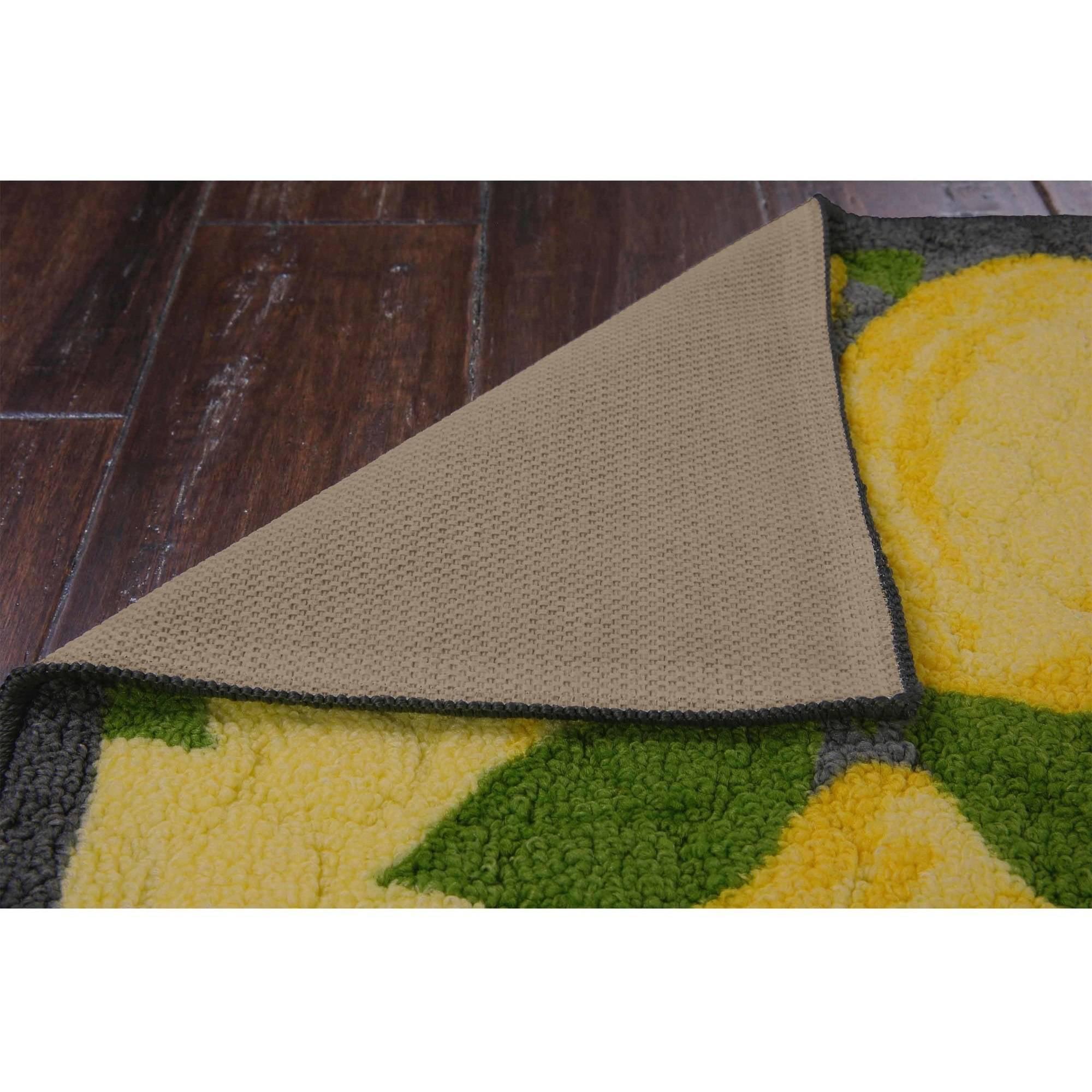 better homes and gardens lemon kitchen rug - best area rugs