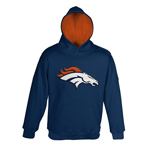 "Denver Broncos Youth NFL ""Primary"" Pullover Hooded Sweatshirt"