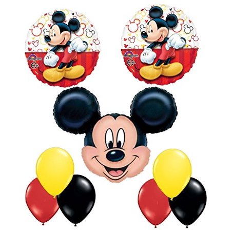 new mickey mouse balloon decoration kit by party supplies (Mickey Mouse Party Theme Decorations)
