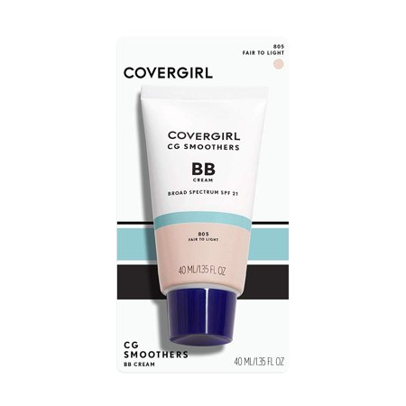 COVERGIRL Smoothers Lightweight BB Cream, 805 Fair To (Best Cc Cream For Redness)
