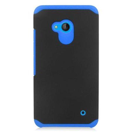 Insten Hard Dual Layer Silicone Case For Microsoft Lumia 640 - Blue/Black