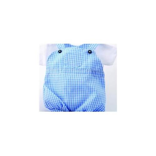 Beverly Clark 200VB Baby Shower Theme Favor Bags - Blue Overalls