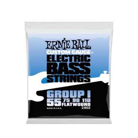 Ernie Ball Flatwound Group I Electric Bass Strings - 55-110