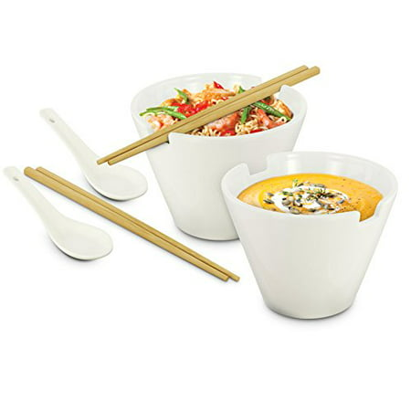 Kovot Noodle Soup Bowl Set - 28 Oz Bowls - Great For Pho, Ramen Noodle, And Miso