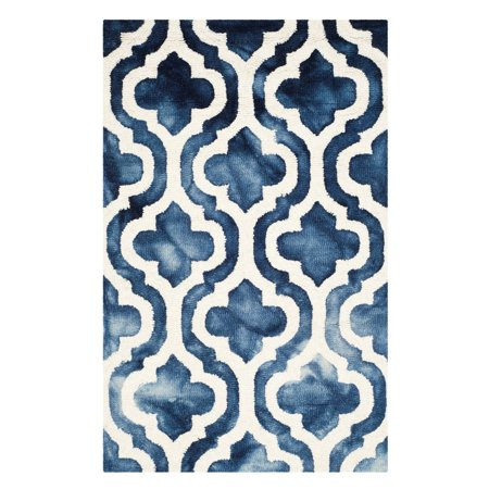 Safavieh Dip Dye Jolyon Faded Geometric Wool Area - Chinese Wool Rugs