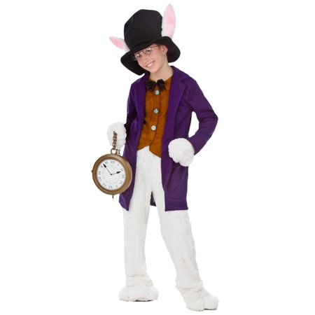White Rabbit Child Costume - Alice In Wonderland Costume White Rabbit