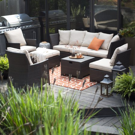 South Patio Union (Coral Coast South Isle All-Weather Wicker 8 Piece Patio Conversation)