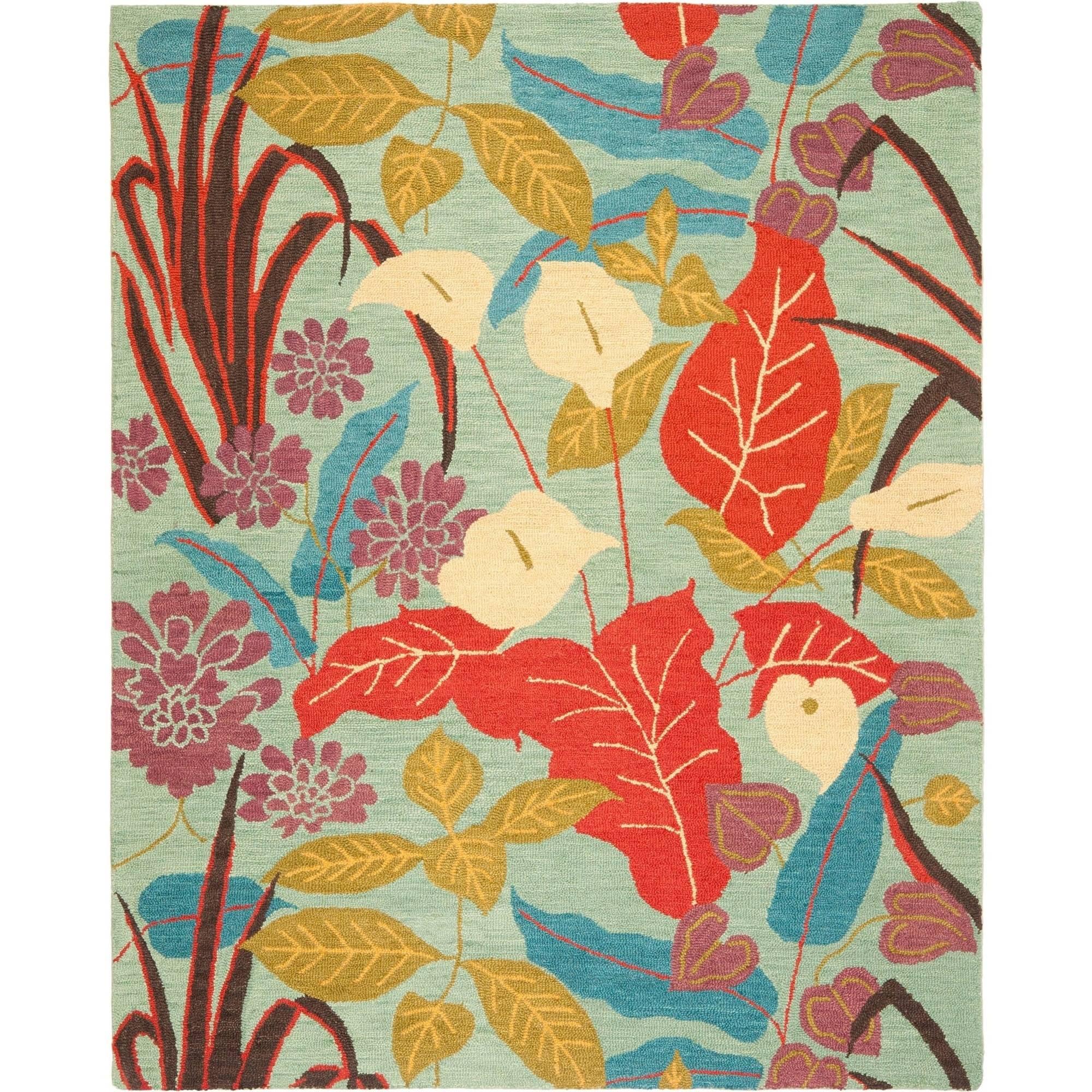 Safavieh Blossom Michelle Wool Area Rug, Blue/Multi