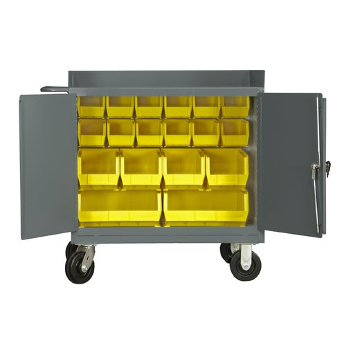 Durham Manufacturing Mobile 36''W Steel Top Workbench