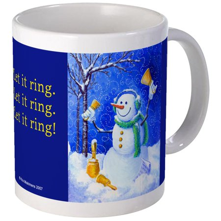 CafePress - HANDBELL SNOWMAN MUG - Unique Coffee Mug, Coffee Cup CafePress - Snowman Out Of Cups