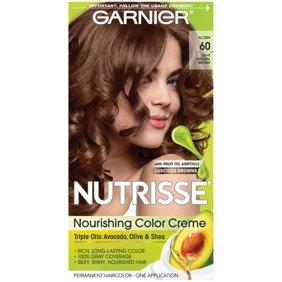 Garnier Nutrisse Nourishing Hair Color Creme Browns 60 Light Natural Brown Acorn 1 Kit