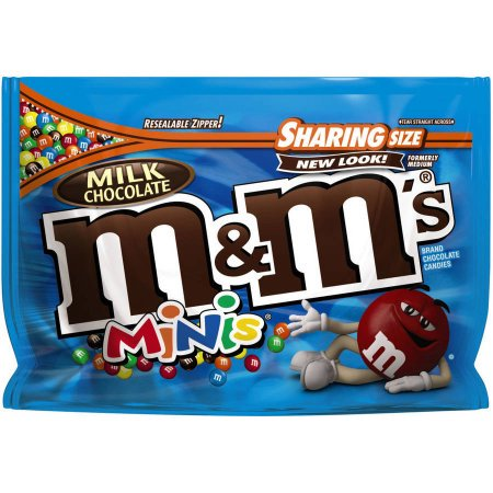 M & M'S Milk Chocolate MINIS Candy Sharing Size Bag](M&m Sharing Size)