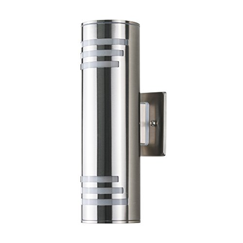 DAKYUE Waterproof Porch Light Outdoor Light Fixture,Brushed Nickel Wall Sconce, C-UL US Listed, Suitable for Garden &... by