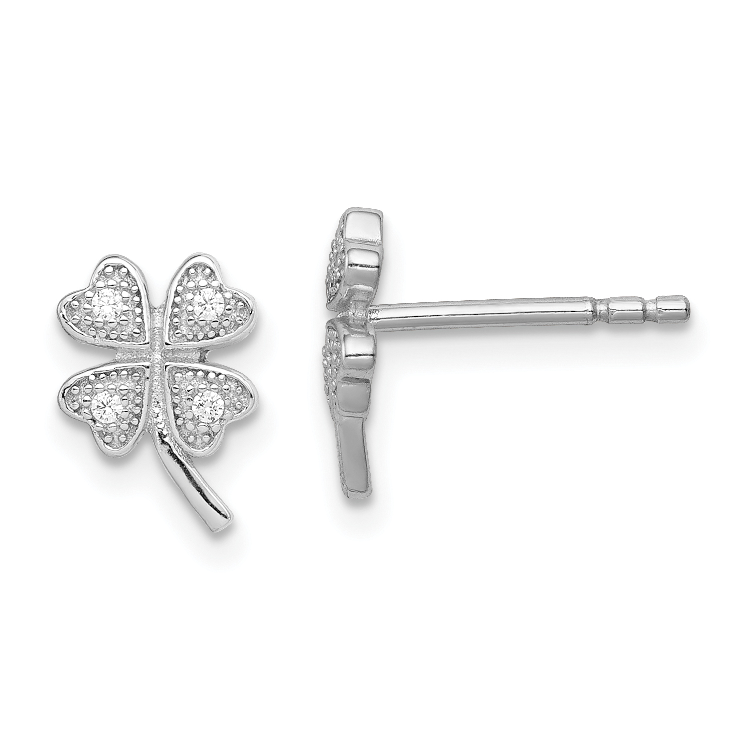 Best Designer Jewelry Sterling Silver Cross with CZ Post Earrings