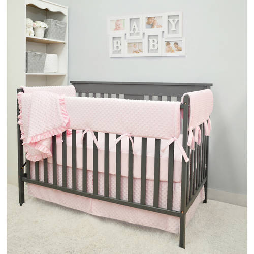 American Baby Company Heavenly Soft Minky Dot 6 Piece Crib Bedding Set