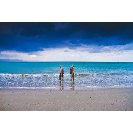 Canvas Print Idyllic Sea Hd Wallpaper Beach Ocean Sand Stretched Canvas 10 x