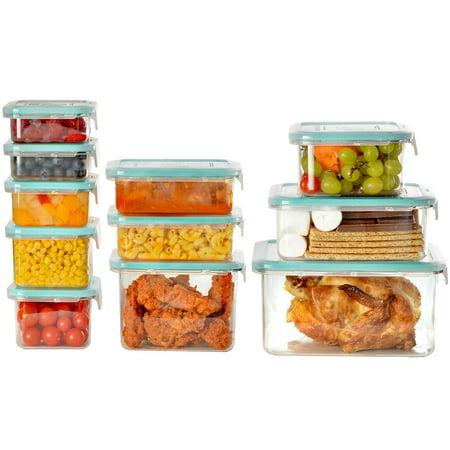 Wellslock Classic 1-Lock 22-Piece Food Storage Container Deluxe - Bug Jar
