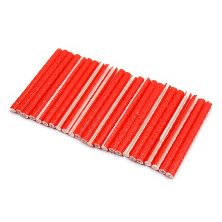 24Pcs Red ABS Bike Bicycle Wheel Spoke Reflector Reflective Mount Clip Tube - image 2 of 2