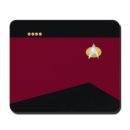 CafePress - Star Trek: TNG Uniform - Captain - Non-slip Rubber Mousepad, Gaming Mouse Pad (Star Trek Tng Uniforms)