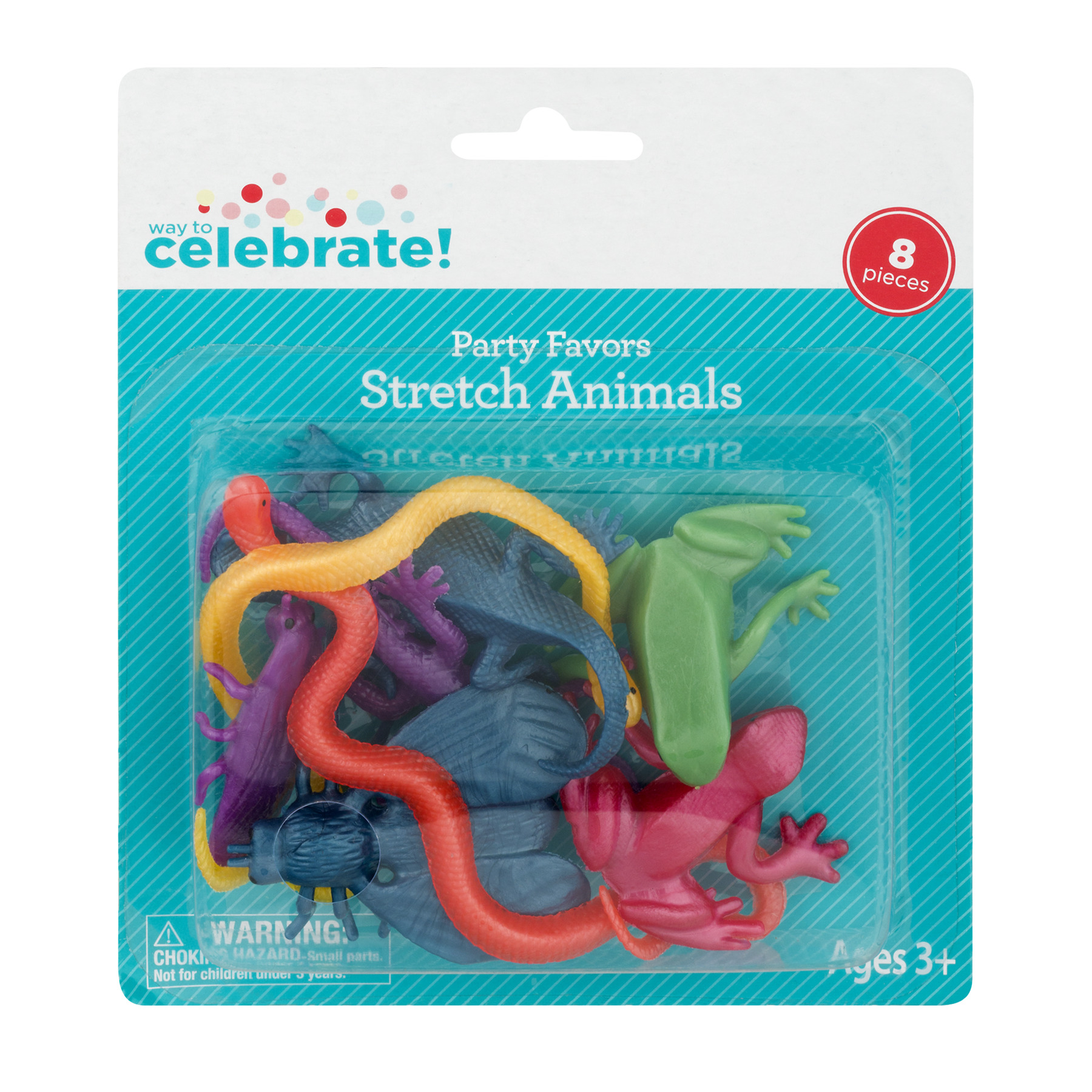 (4 Pack) Way To Celebrate! Party Favors Stretch Animals, 8.0 PIECE(S)