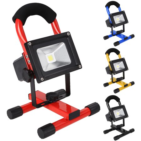 10W Wireless Outdoor LED Flood Light Camping Hiking Lamp Rechargeable  US Plug AMZSE