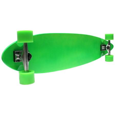 Green PINTAIL LONGBOARD Skateboard Complete Cruiser CANADIAN MADE DECK