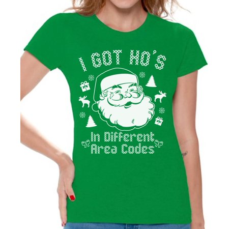5d80984977b Awkward Styles I Got Ho s In Different Area Codes Christmas Shirts for  Women Funny Tacky Party