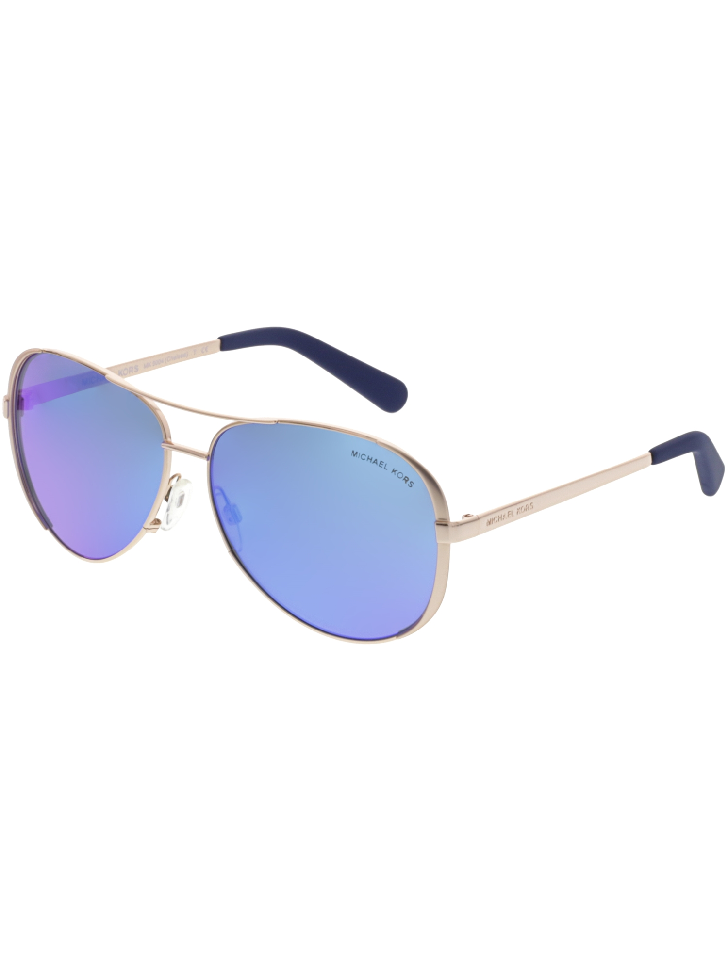37d95fa72611 Michael Kors - Women's Gradient Chelsea MK5004-100325-59 Gold Aviator  Sunglasses - Walmart.com