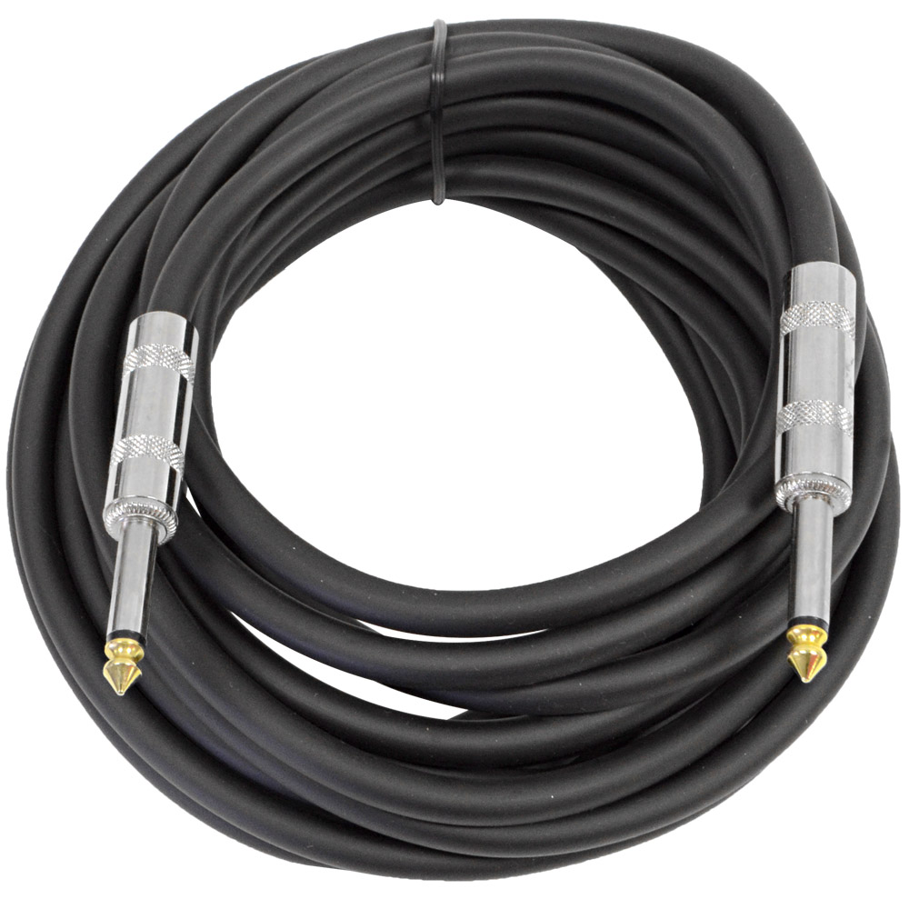 "Seismic Audio 20' 1/4"" Speaker Cable 14 Ga NEW Pro Audio DJ/PA/Band - FS20-1"