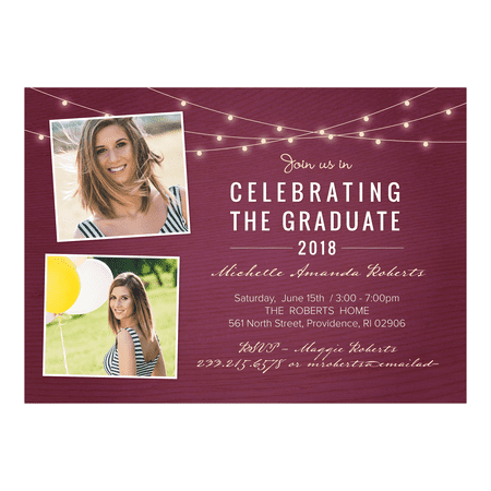 Personalized Graduation Invitation - Rustic Celebration - 5 x 7