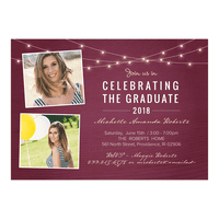 Personalized Graduation Invitation - Rustic Celebration - 5 x 7 Flat
