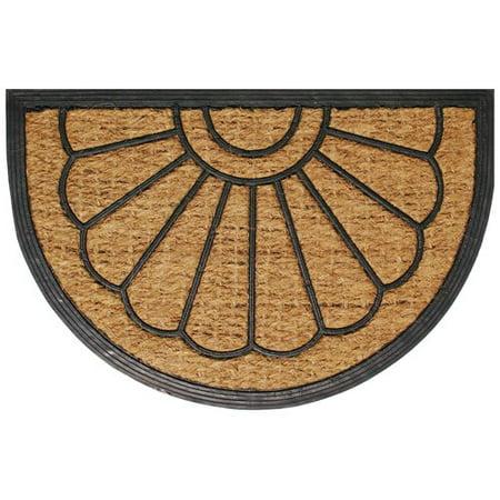 Robert Allen Home and Garden Half Circle Promotional Doormat - Half Circle Mat