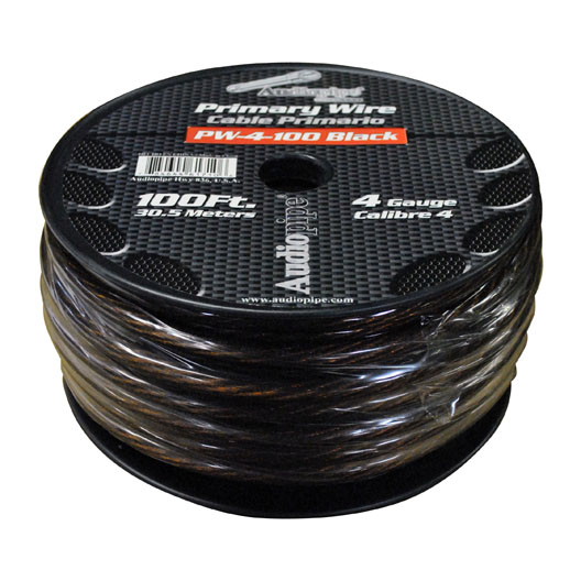 Audiopipe PW4100BK Power Wire Audiopipe 4ga 100' Black