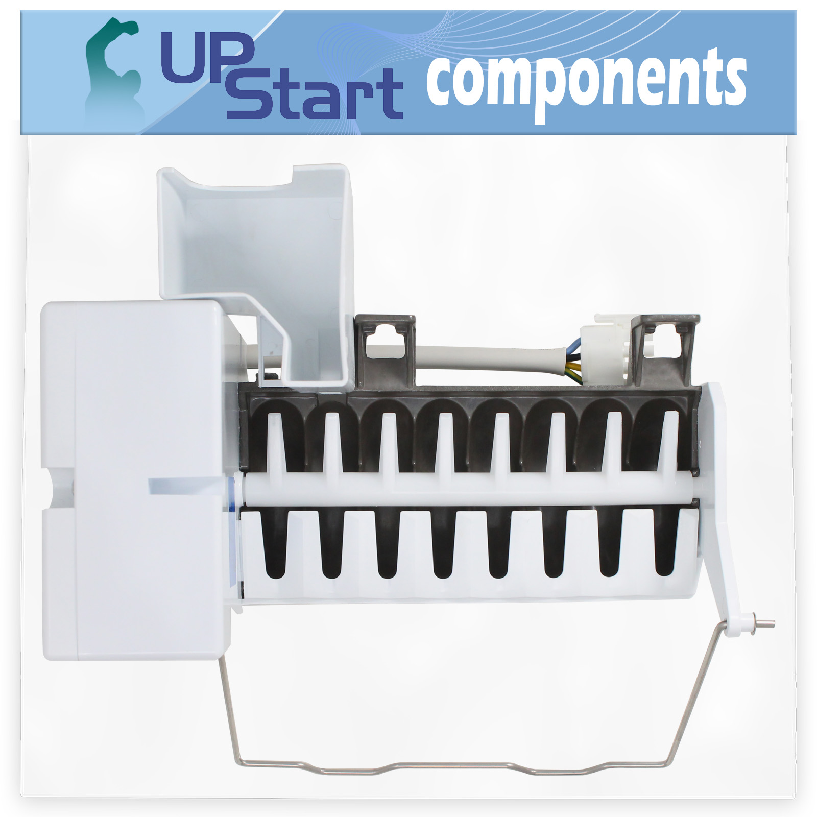 5303918344 Refrigerator Ice Maker Replacement for Frigidaire PLHS267ZDB2 Compatible with 241696501 241627701 Icemaker