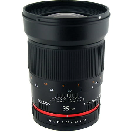 Rokinon 35mm f/1.4 Aspherical Automatic Wide Angle Lens (for Nikon