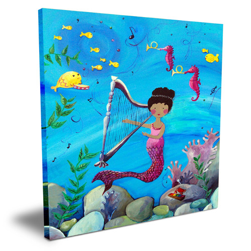 Cici Art Factory Wit & Whimsy African American Mermaid Canvas Art