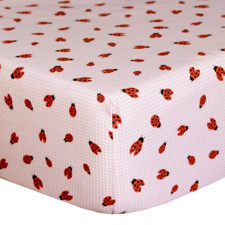 Cotton Cuddle Ring (Cuddles & Cribs Ladybug Cotton Fitted Crib Sheet )