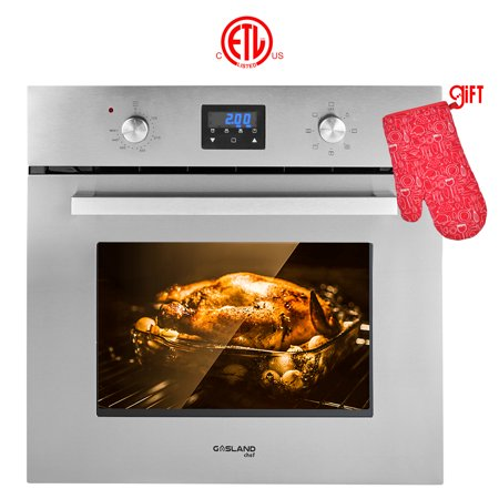 "Gasland Chef ES609DS 24"" Built-in Single Wall Oven, 9 Cooking Function, Stainless Steel Electric Wall Oven With Cooling Down Fan"