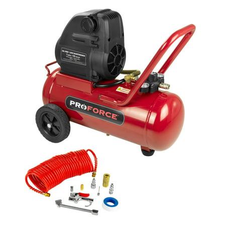 ProForce VPF1580719 7 Gallon Oil Free Portable Air Compressor with Kit