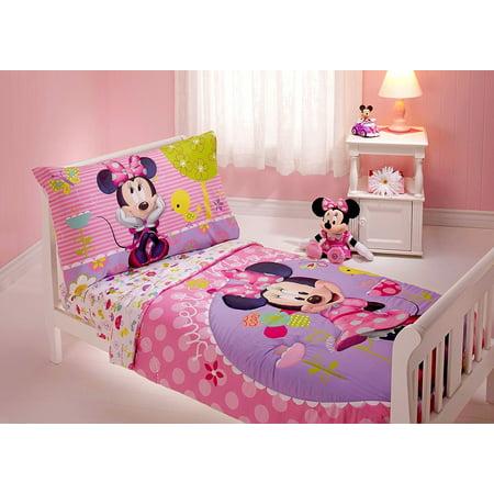 Minnie Mouse 4 Piece Toddler Bedding Set - Walmart.com