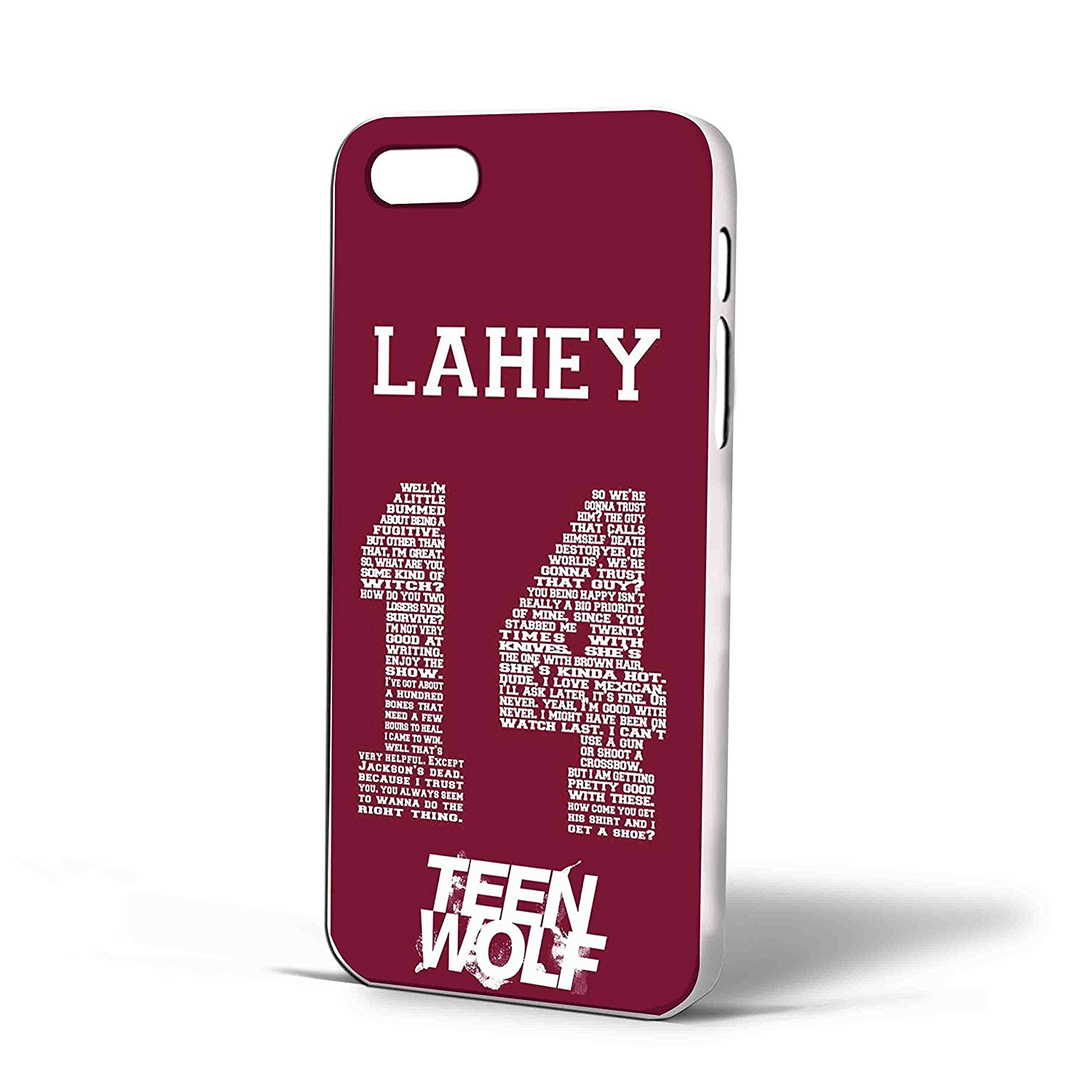 Ganma Teen Wolf Werewolf Isaac Lahey Lacrosse Jersey Case For iPhone Case ( Case For iPhone 6s plus White)