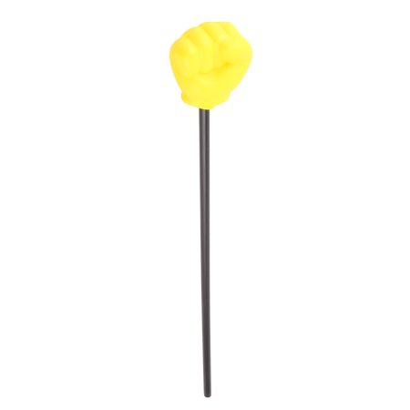 Prop Foam Hand Pointer Rock Gesture Toy Fist Stick 18.5  Length Yellow Black