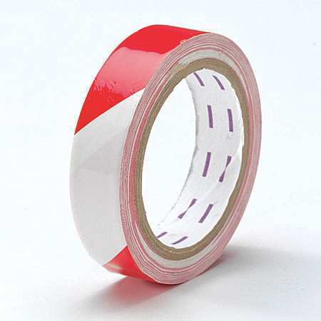 "Red/White Safety Warning Tape, Value Brand, 9NM081""W"