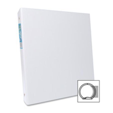 Round Ring Binder- 1-.50in. Cap- 11in.x8-.50in.- White - image 1 of 1