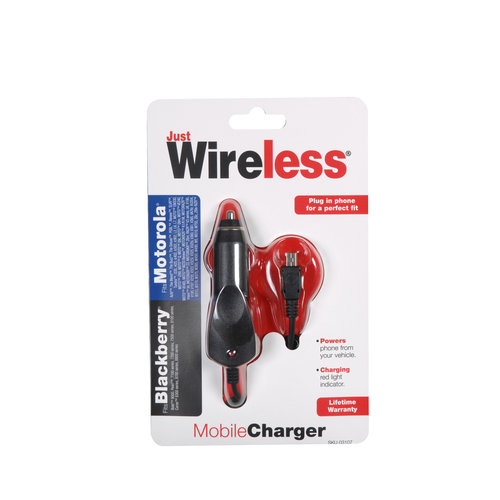 Just Wireless Car Charger for Blackberry and Motorola