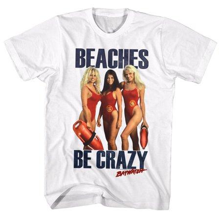 Baywatch Tv Beaches Adult Short Sleeve T Shirt - Baywatch Costume