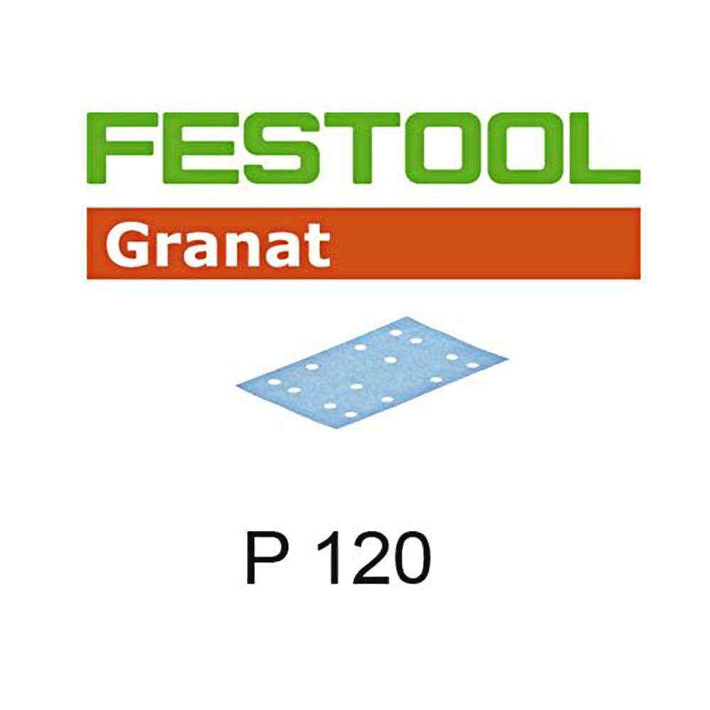 Festool 497120 P120 Grit, Granat Abrasives, Pack Of 100